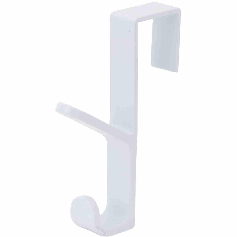 Spectrum White Plastic Over-The-Door Hook, 5-1/2 In. Image 2