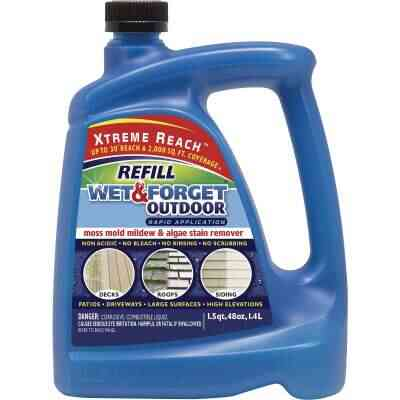 Wet & Forget 48 Oz. Hose End Refill Concentrate Moss, Mold, Mildew, & Algae Stain Remover